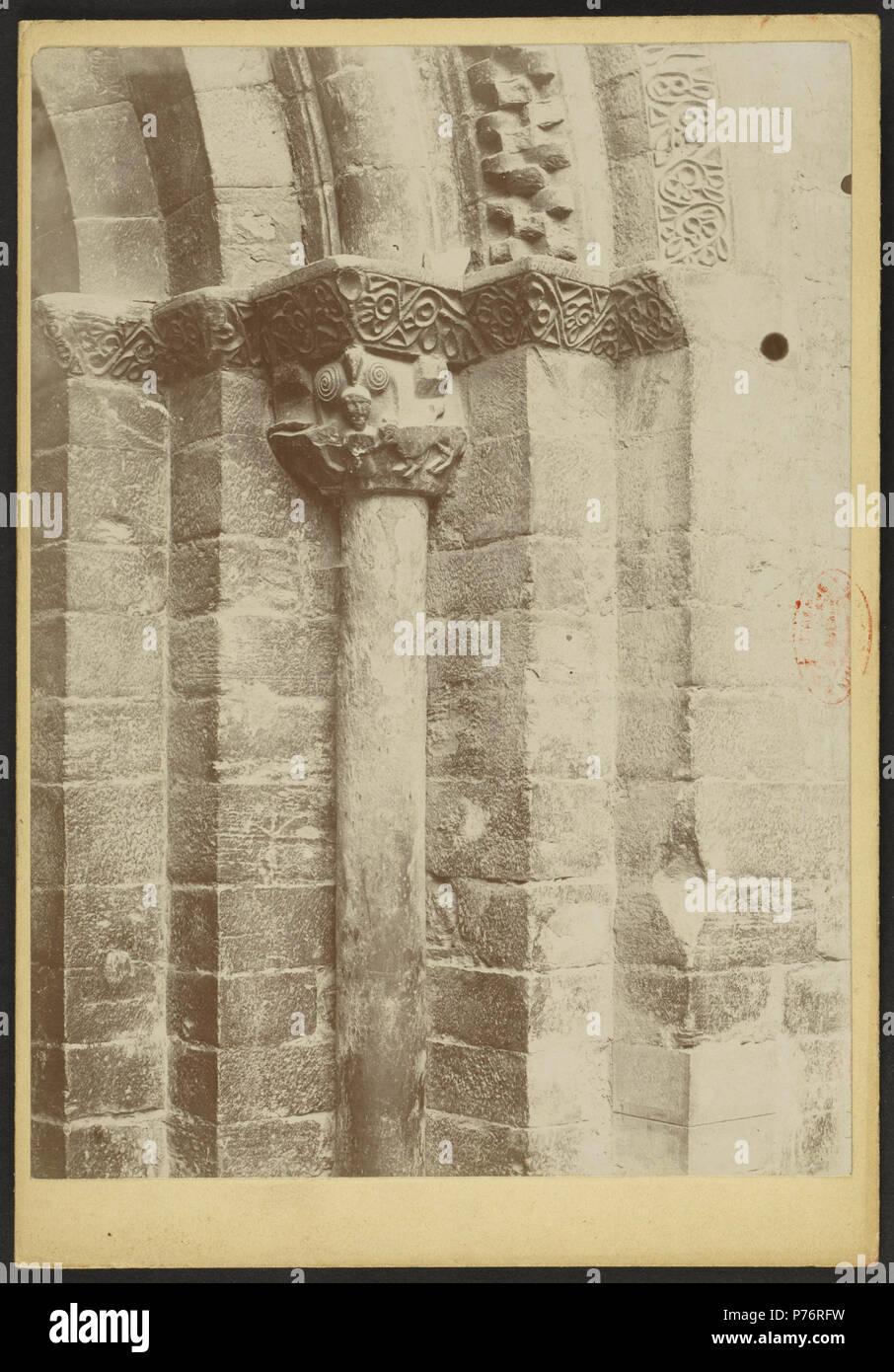 232 Église des Templiers de Luz-Saint-Sauveur - J-A Brutails - Université Bordeaux Montaigne - 1455 - Stock Image