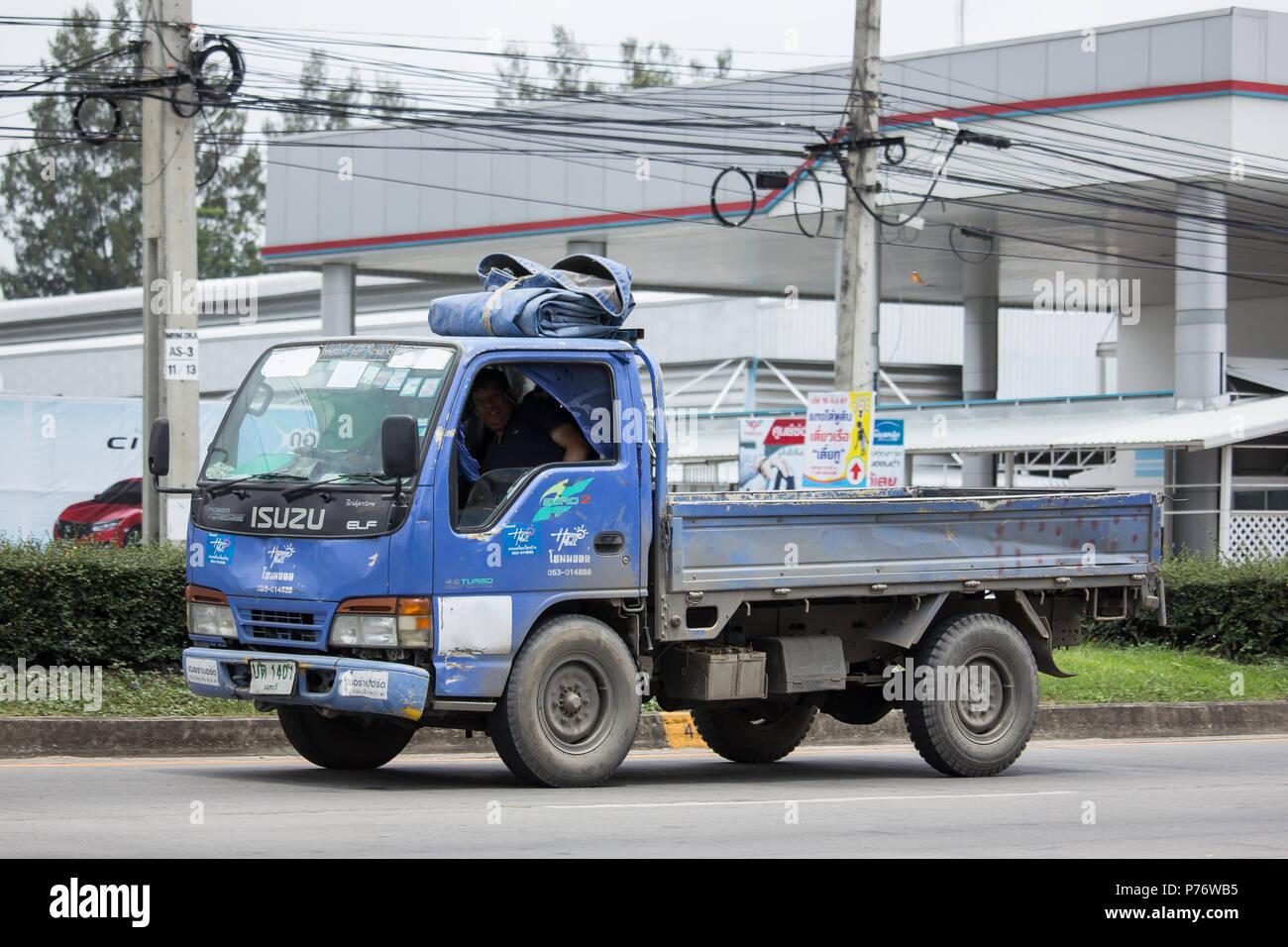 Chiangmai, Thailand - June 19 2018: Private Isuzu Cargo Truck  Photo