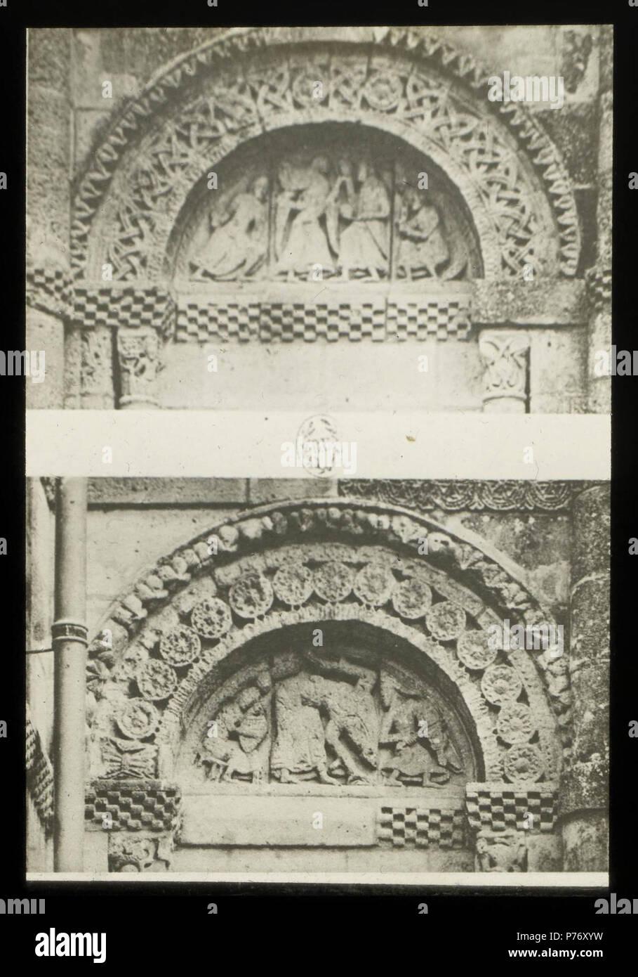 235 Église Saint-Vivien de Saint-Vivien-de-Médoc - J-A Brutails - Université Bordeaux Montaigne - 2469 - Stock Image