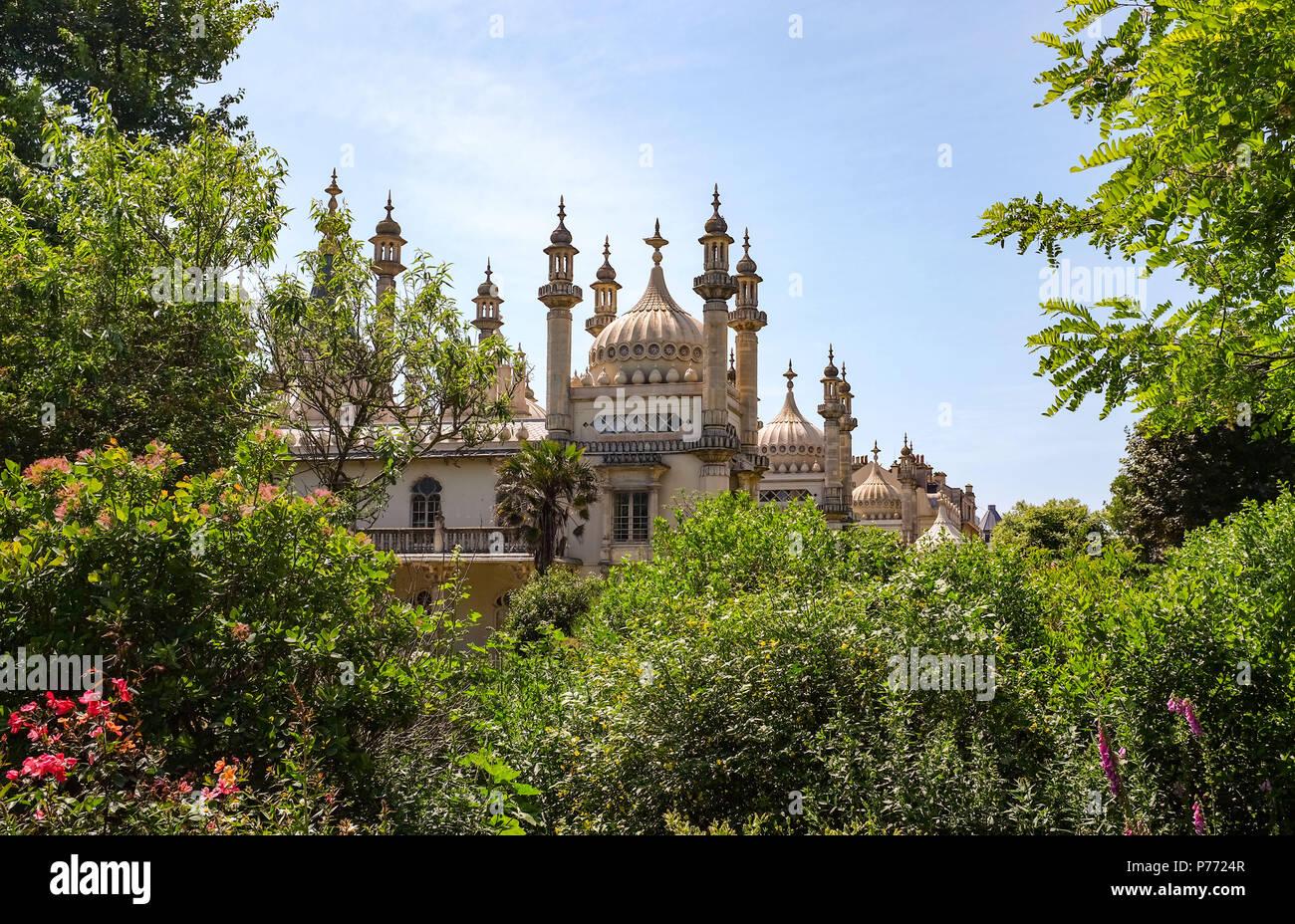 View of The Royal Pavilion Brighton UK Photograph taken by Simon Dack - Stock Image