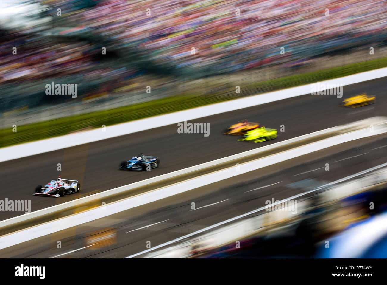 Racing driver will power of team penske leads the pack in his number 12 car at the indy 500 race credit shivraj gohil spacesuit media