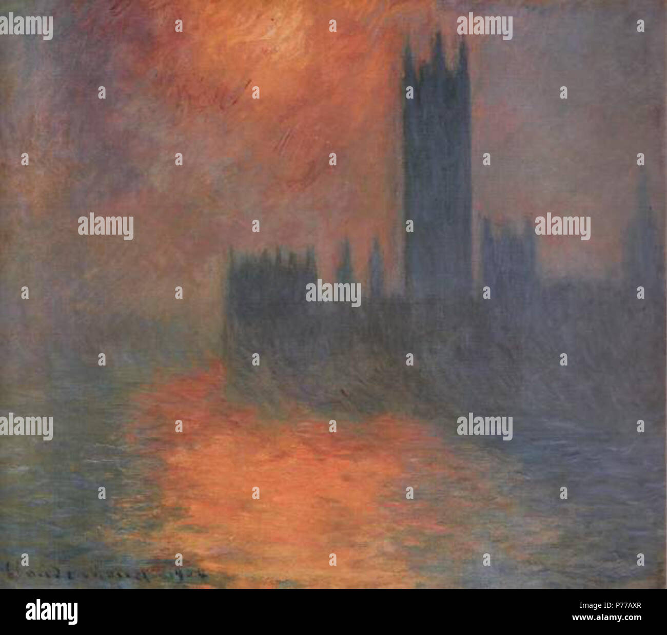 Claude Monet Houses Of Parliament Stock Photos & Claude Monet Houses ...