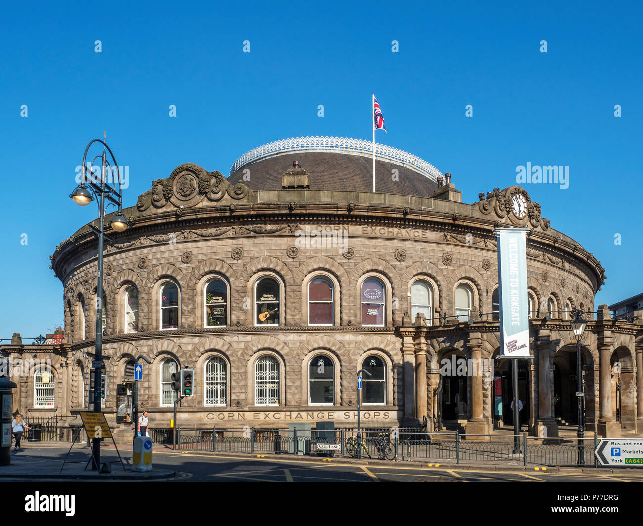 Victorian Corn Exchange building converted to shopping units in Leeds West Yorkshire England - Stock Image