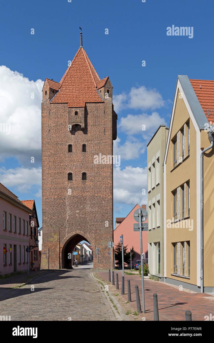 Dammtor, Barth, Mecklenburg-West Pomerania, Germany - Stock Image