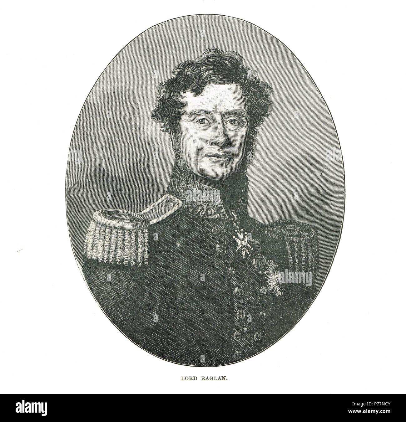 Field Marshal FitzRoy Somerset, 1st Baron Raglan - Stock Image