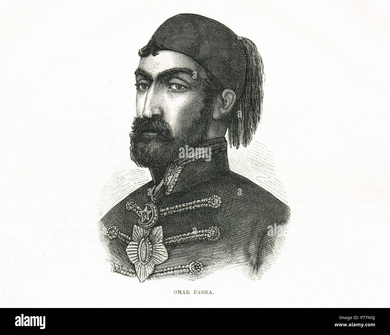 Omar Pasha, commander in the Crimean War, Ottoman field marshal and governor - Stock Image