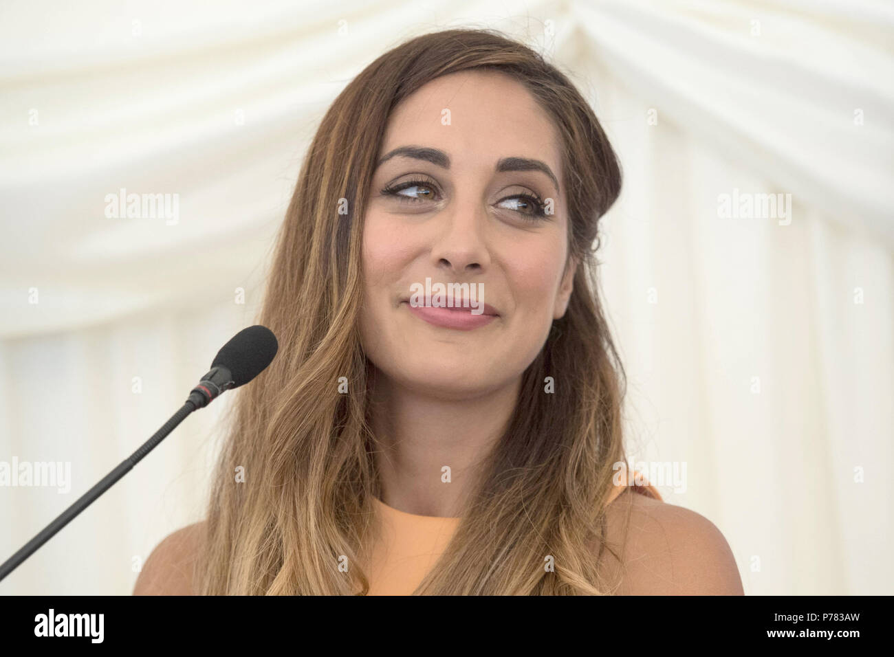 Dr Sara Kayat attends the NHS70 parliamentary awards for the 70th anniversary of the NHS at the House of Commons in Westminster, London. - Stock Image