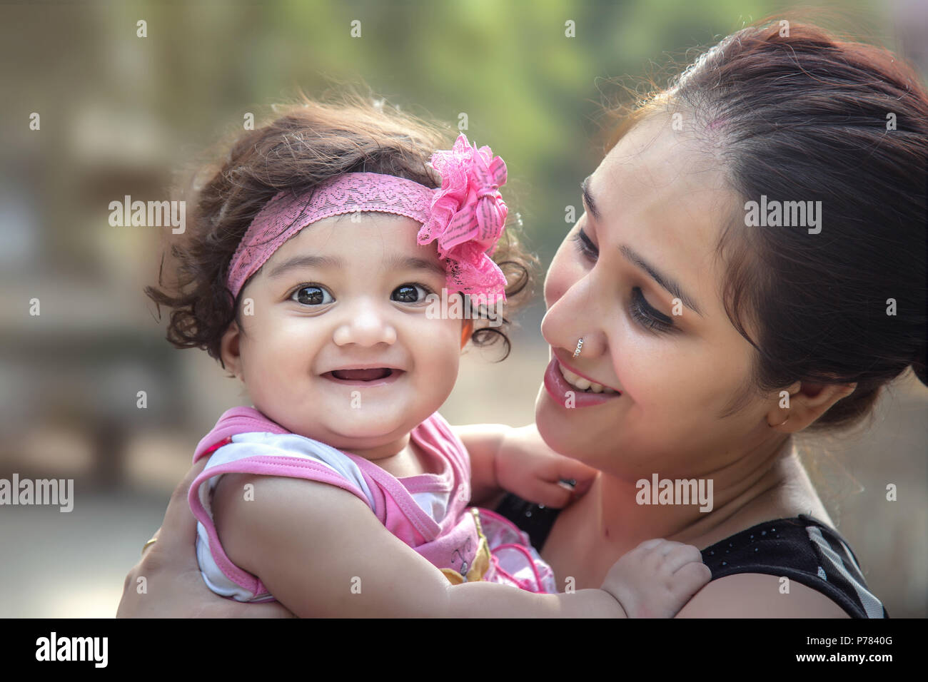 Indian Mother And Baby Stock Photos & Indian Mother And Baby