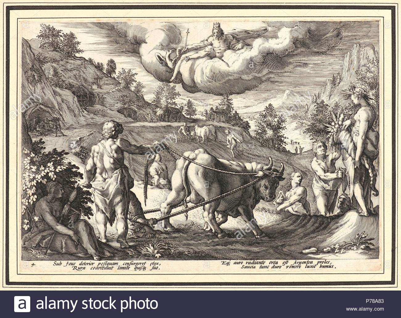Anonymous after Hendrick Goltzius (Dutch, 1558 - 1617). The Age of Silver,  ca. 1589. From Metamorphoses. Engraving on wove paper.
