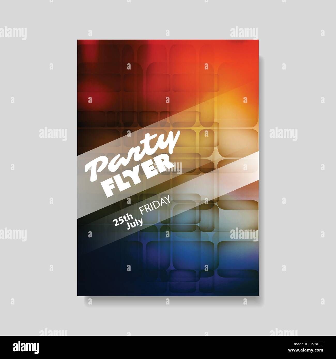 Abstract Colorful Party Flyer, Background or Book Cover