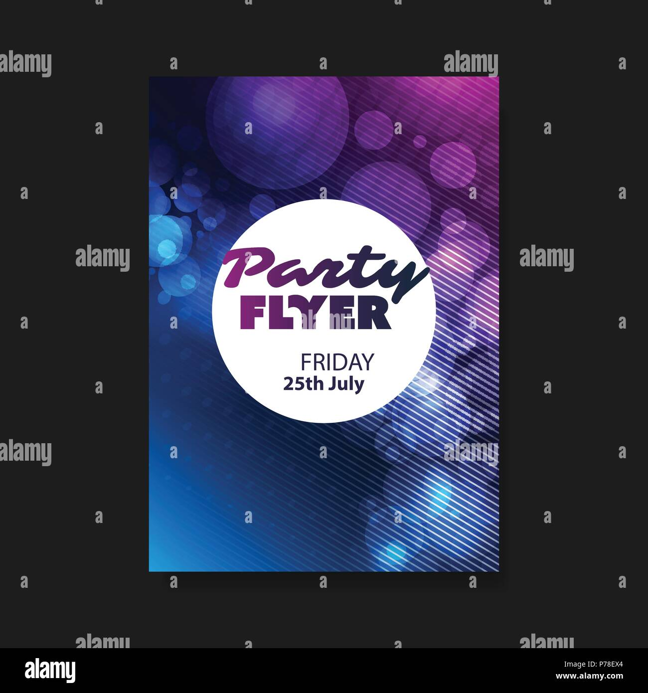 abstract colorful party flyer background or book cover billboard