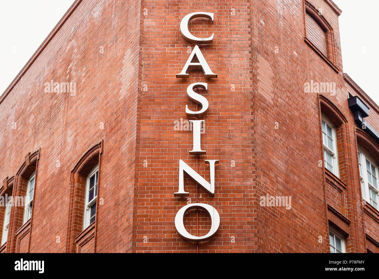 Casino sign in London Chinatown - Stock Image
