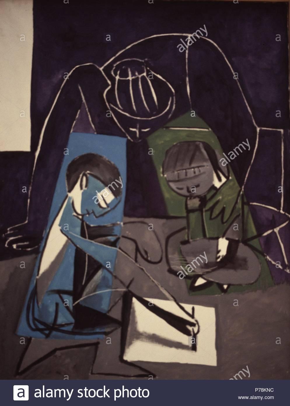 Museo Picasso Paris.Claude Dibujando Vallauris 1954 Museo Picasso Paris Pablo
