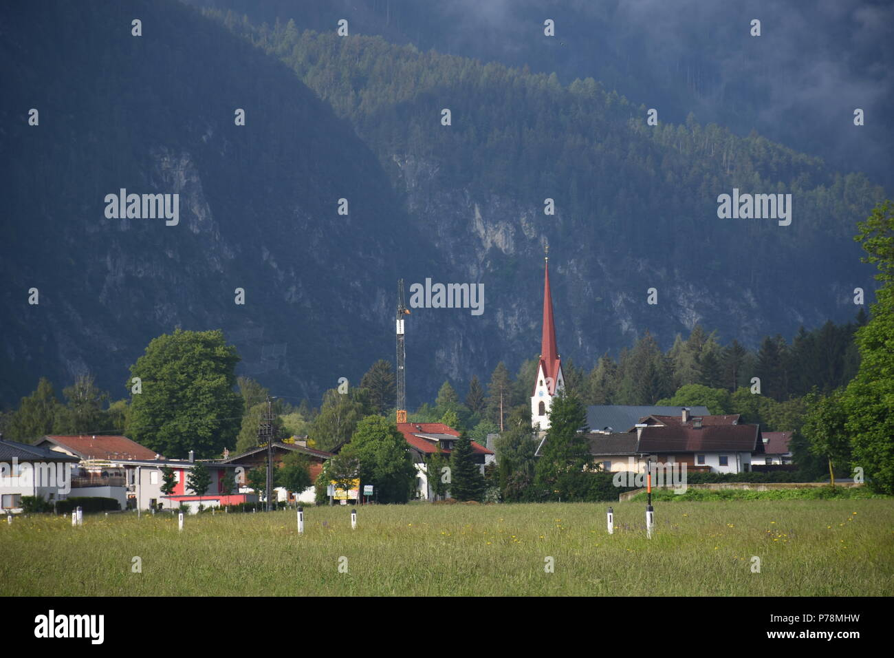 Morgenstimmung in den Lienzer Dolomiten - Stock Image