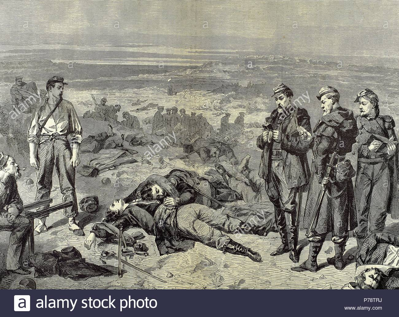 October 1853-Febrary 1856. Conflict in which Russian lost to an alliance of  France, Britain, the Ottoman Empire and Sardinia. Engraving by W. Thomas.