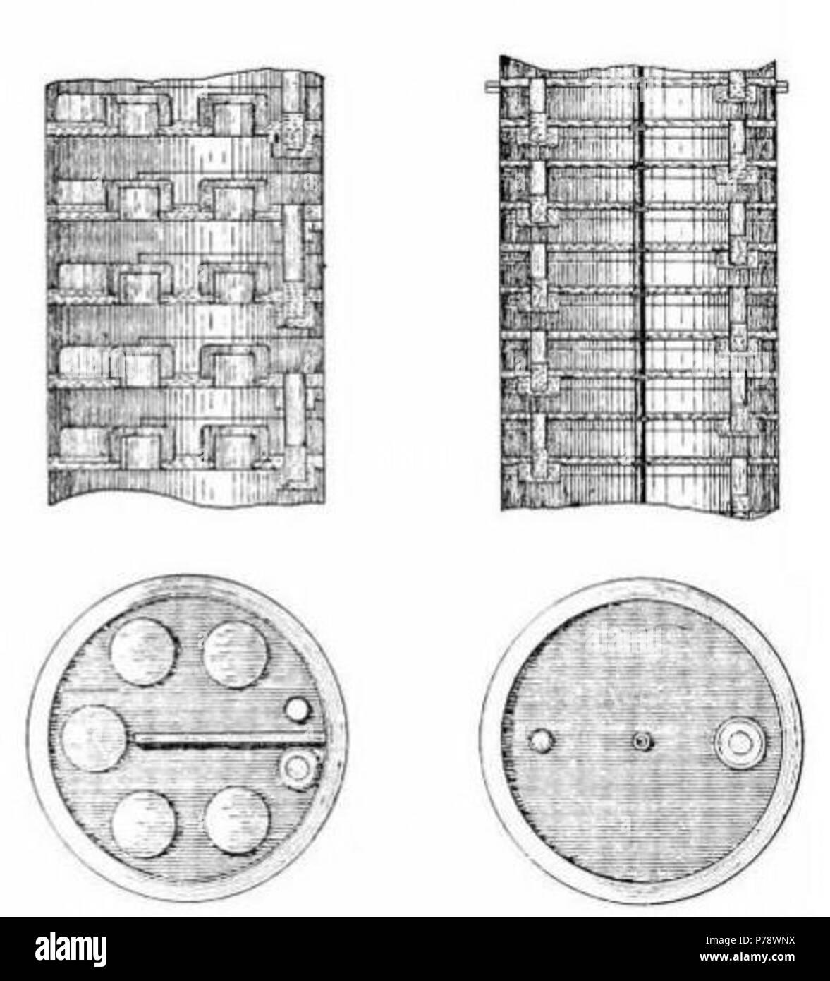 english distillation column trays bubble cap tray left and sieve tray right 1906 17 distillation column trays P78WNX english distillation column trays bubble cap tray (left) and sieve
