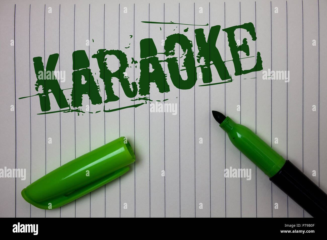 Handwriting text Karaoke  Concept meaning Entertainment singing