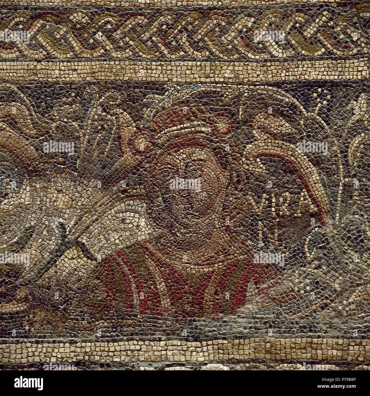 Roman mosaic  Female figure depicting the Summer  4th