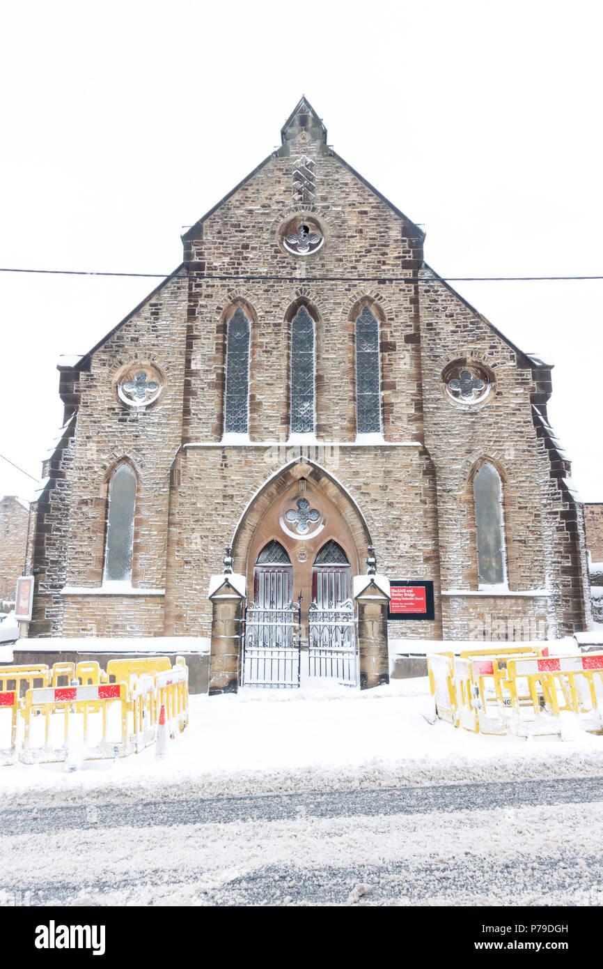 Methodist Church, Blackhill, Consett, County Durham - Stock Image