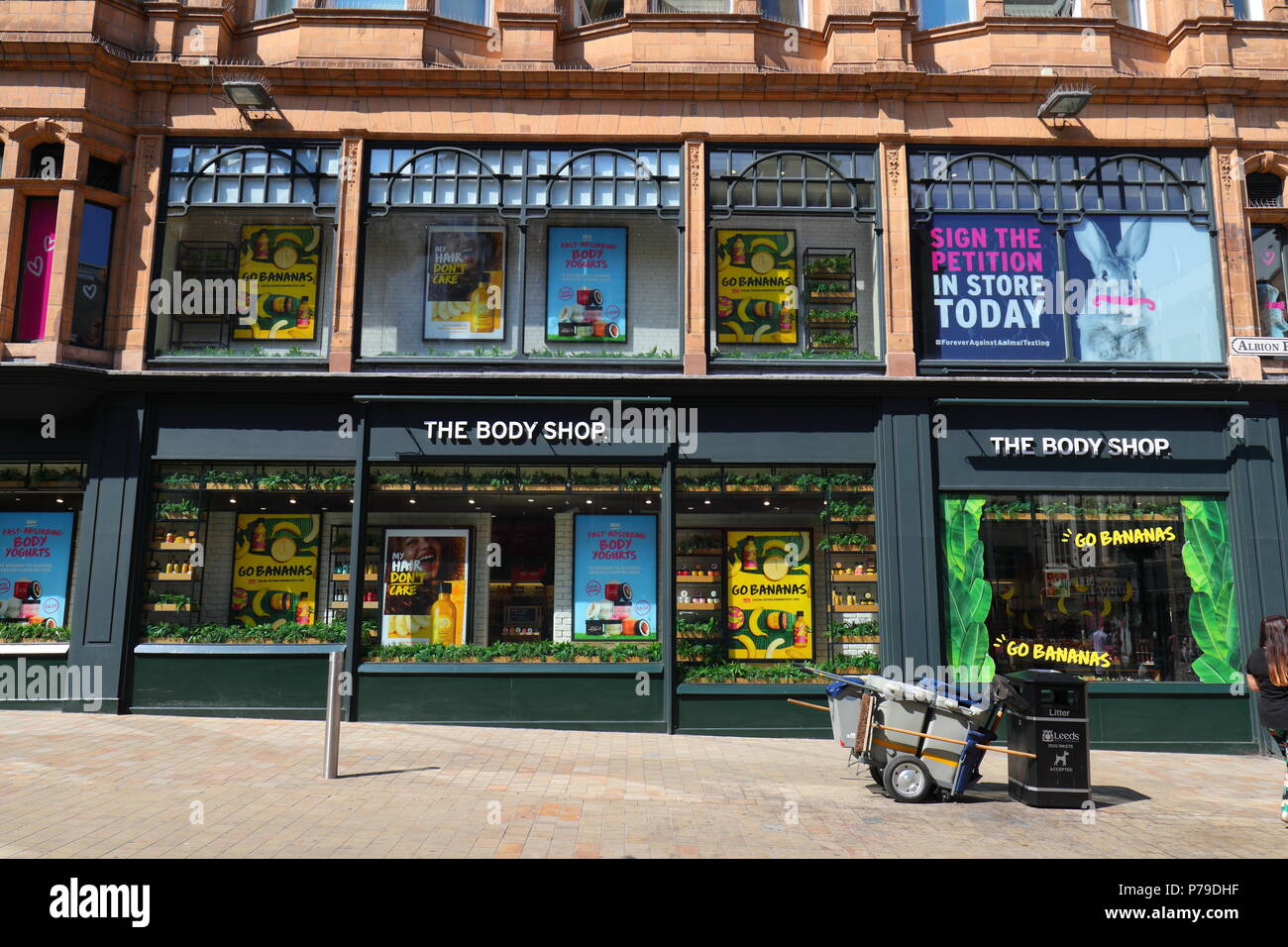 The Body Shop on Briggate in Leeds City Centre - Stock Image