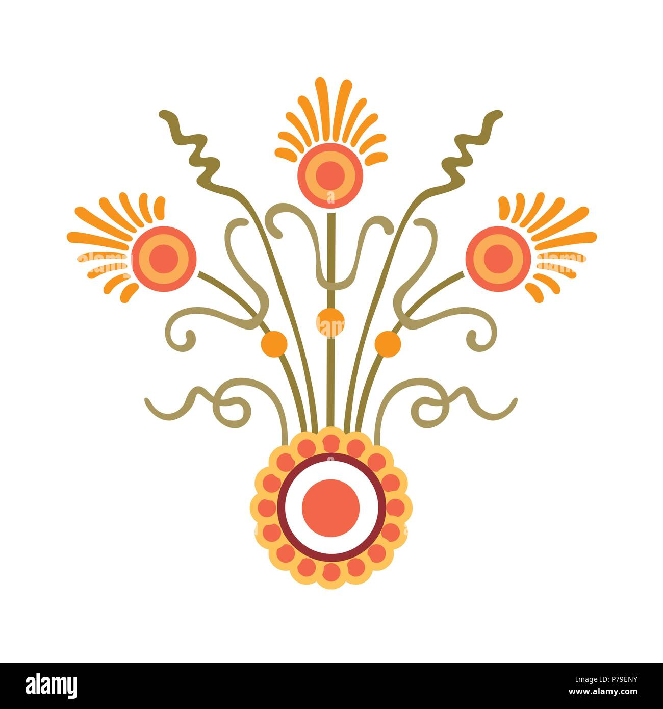 Freehand Drawing Flowers And Plants Bouquet Classical Stock Vector Image Art Alamy