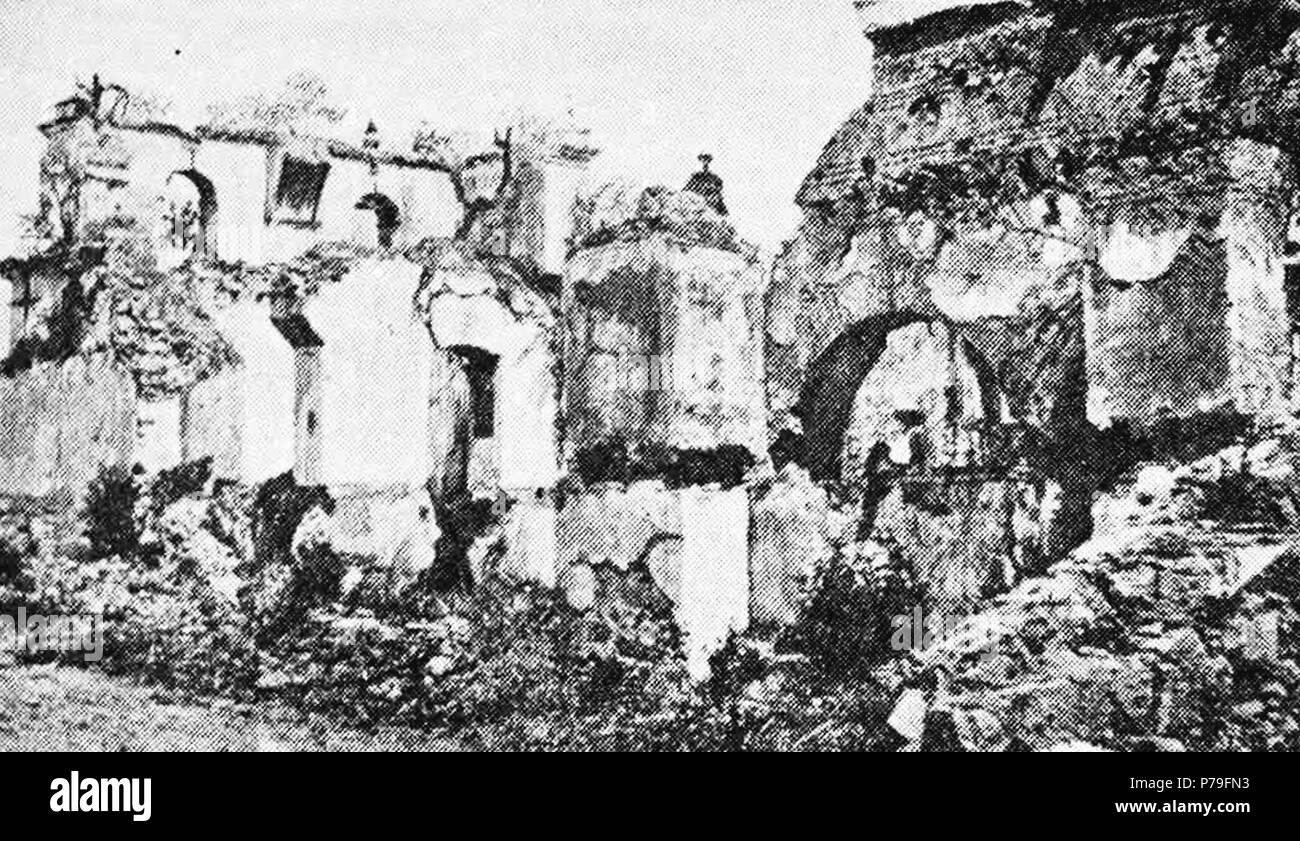 Español: Ruinas de la Iglesia de San Francisco el Grande aproximadamente en 1935. 1940 14 SanFranciscoChurchAntigua1935 02 Stock Photo