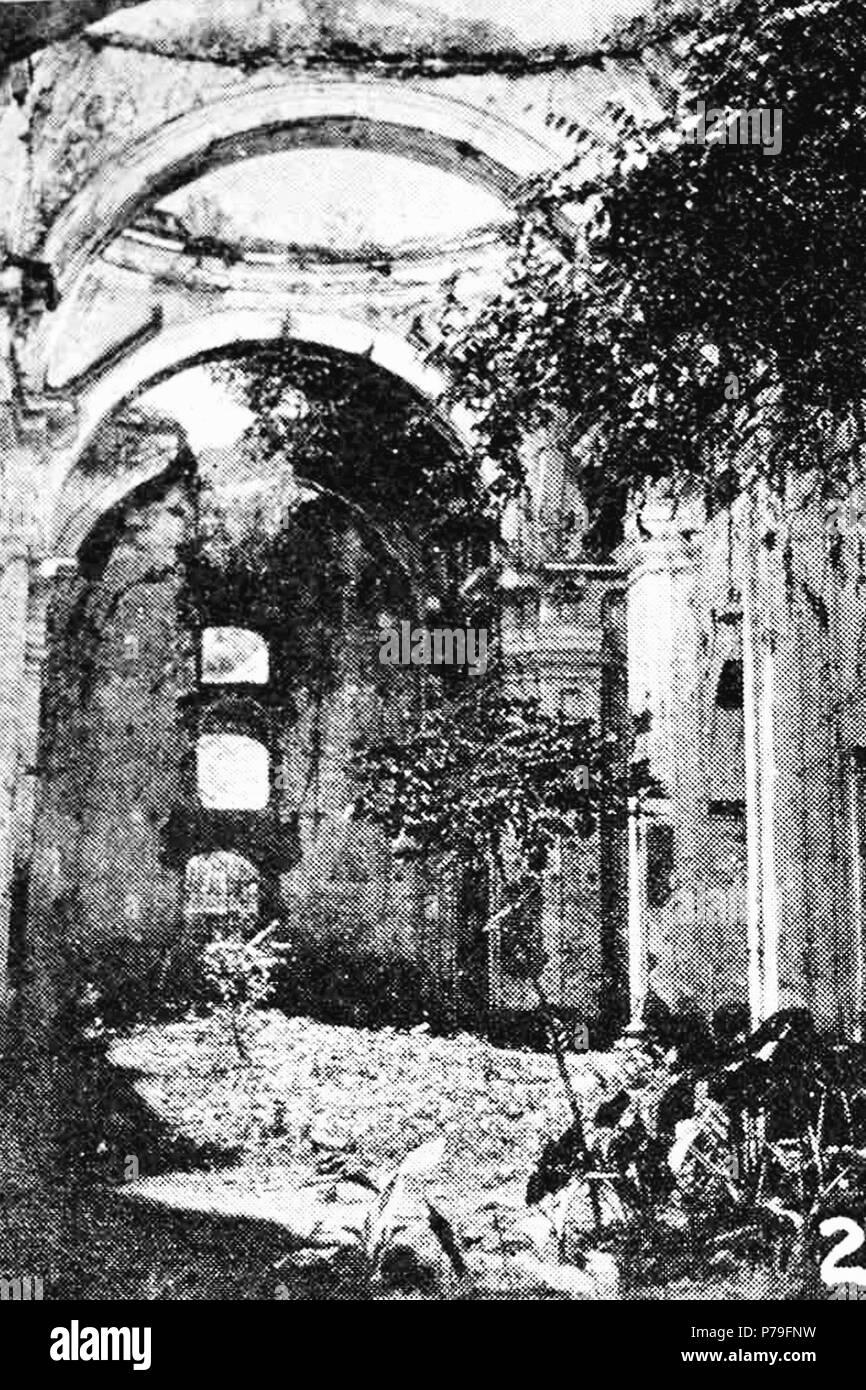 Español: Ruinas de la Iglesia de San Francisco el Grande aproximadamente en 1940. 1940 14 SanFranciscoChurchAntigua1935 01 Stock Photo