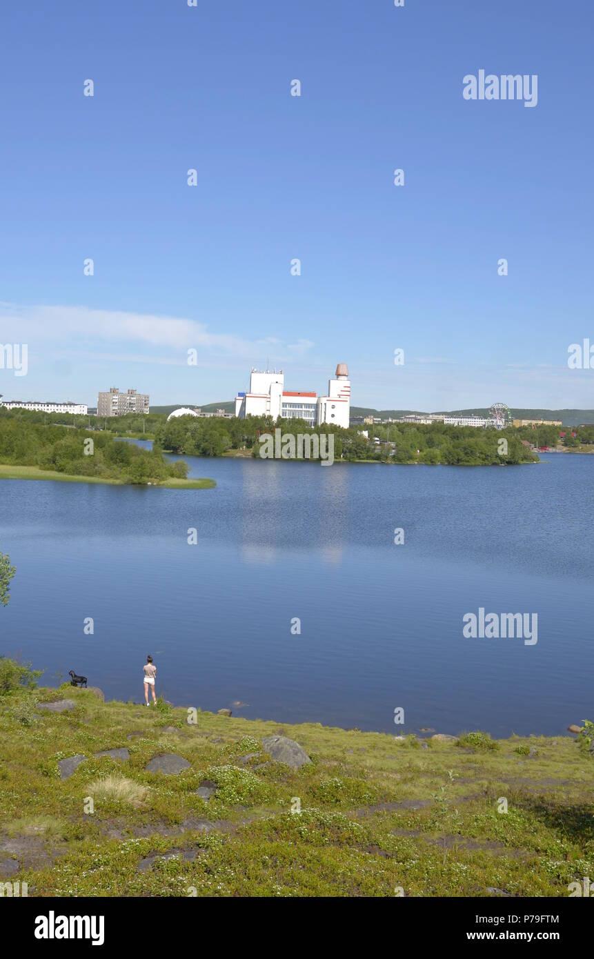 Lake Semyonovskoye, Murmansk, Russia - Stock Image