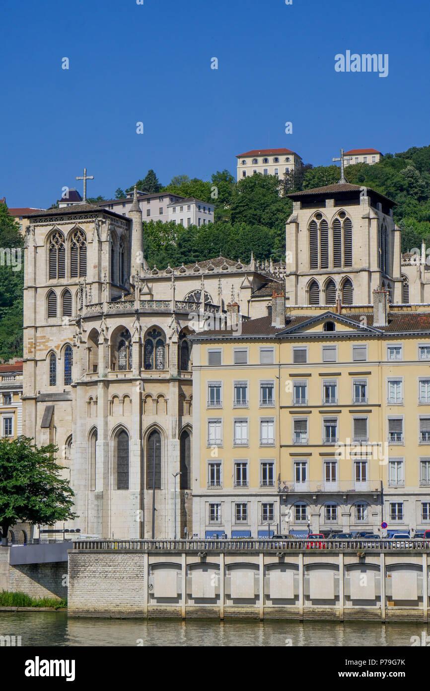 Saint-Jean carhedral, Lyon, France - Stock Image