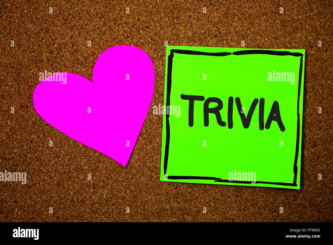 Writing Note Showing Trivia Business Photo Showcasing Pieces Of Insignificant Info Of Something Someone Someplace Love Brown Colour Nice Hart Art Wor Stock Photo Alamy