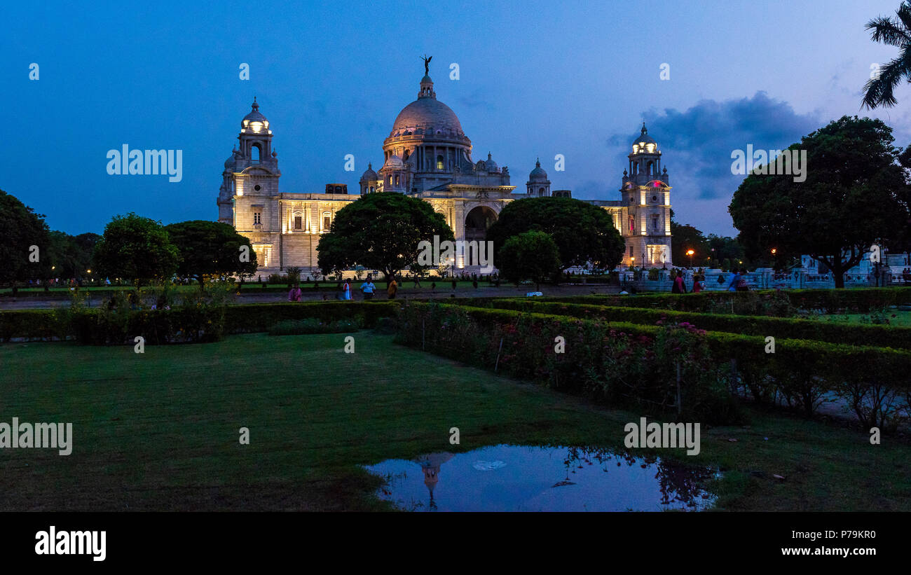 Victoria Memorial at the time of dawn. - Stock Image
