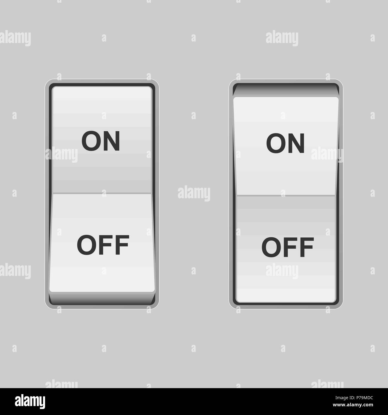 3d Switch On Off Green Red Power Button Stock Photos & 3d Switch On ...