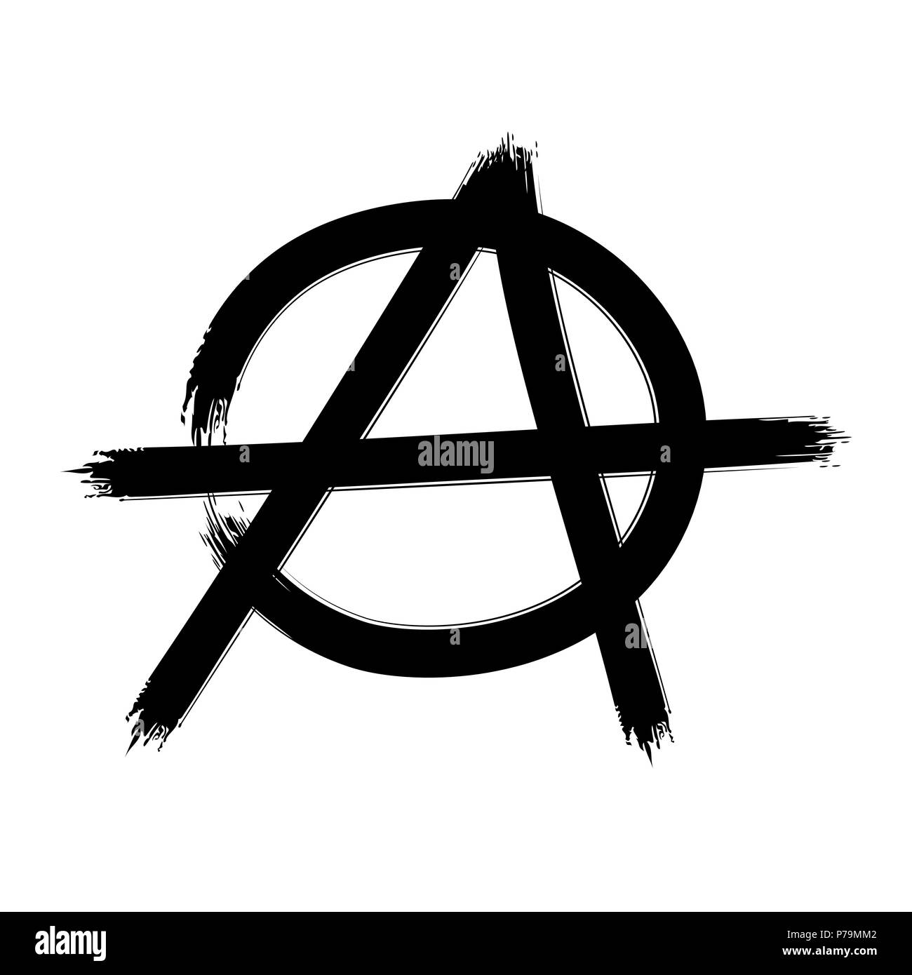 Anarchy symbol. Vector sign Stock Vector