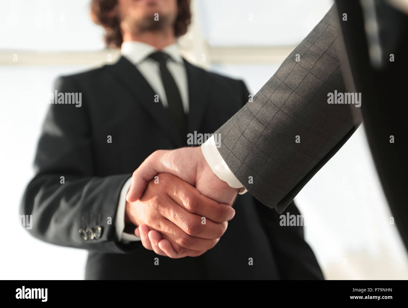 Effective negotiation with client. Business concept photo. - Stock Image