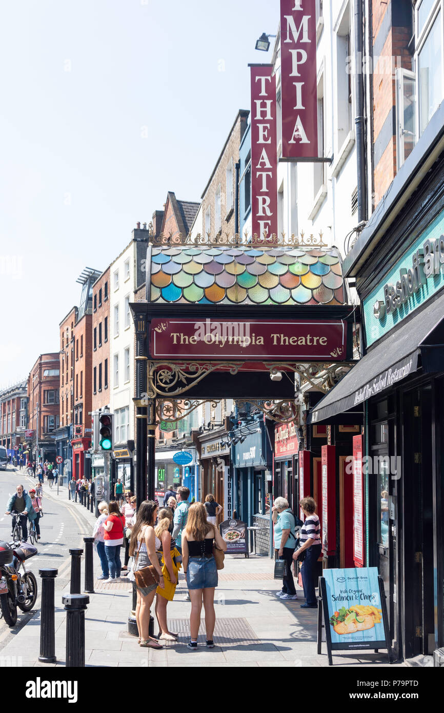 The Olympia Theatre, Dame Street, Temple Bar, Dublin, Leinster Province, Republic of Ireland Stock Photo