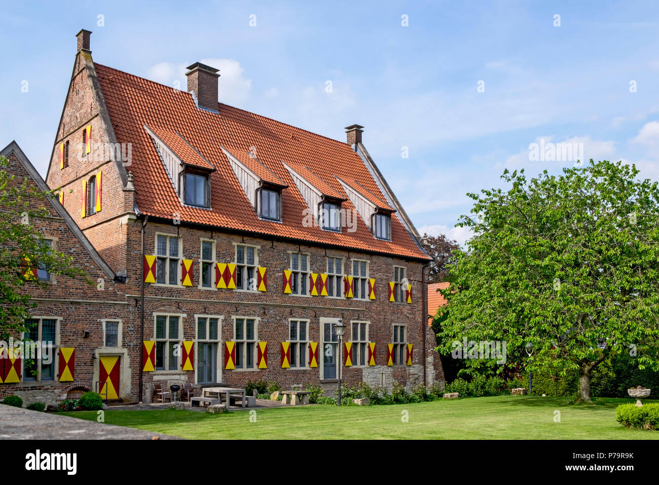 Münsterhof, Historischer Burgmannshof, Horstmar, Münsterland, North Rhine-Westphalia, Germany Stock Photo