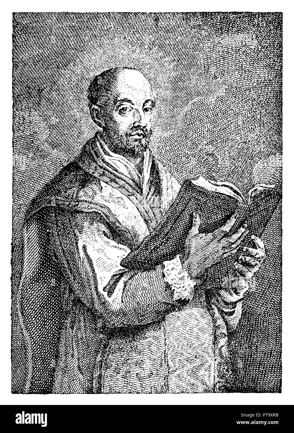 Loyola, Ignatius von (1491-1556), most important co-founder and designer of the Society of Jesus, later also called Jesuit Order., Canonised in 1622,   1881 - Stock Image