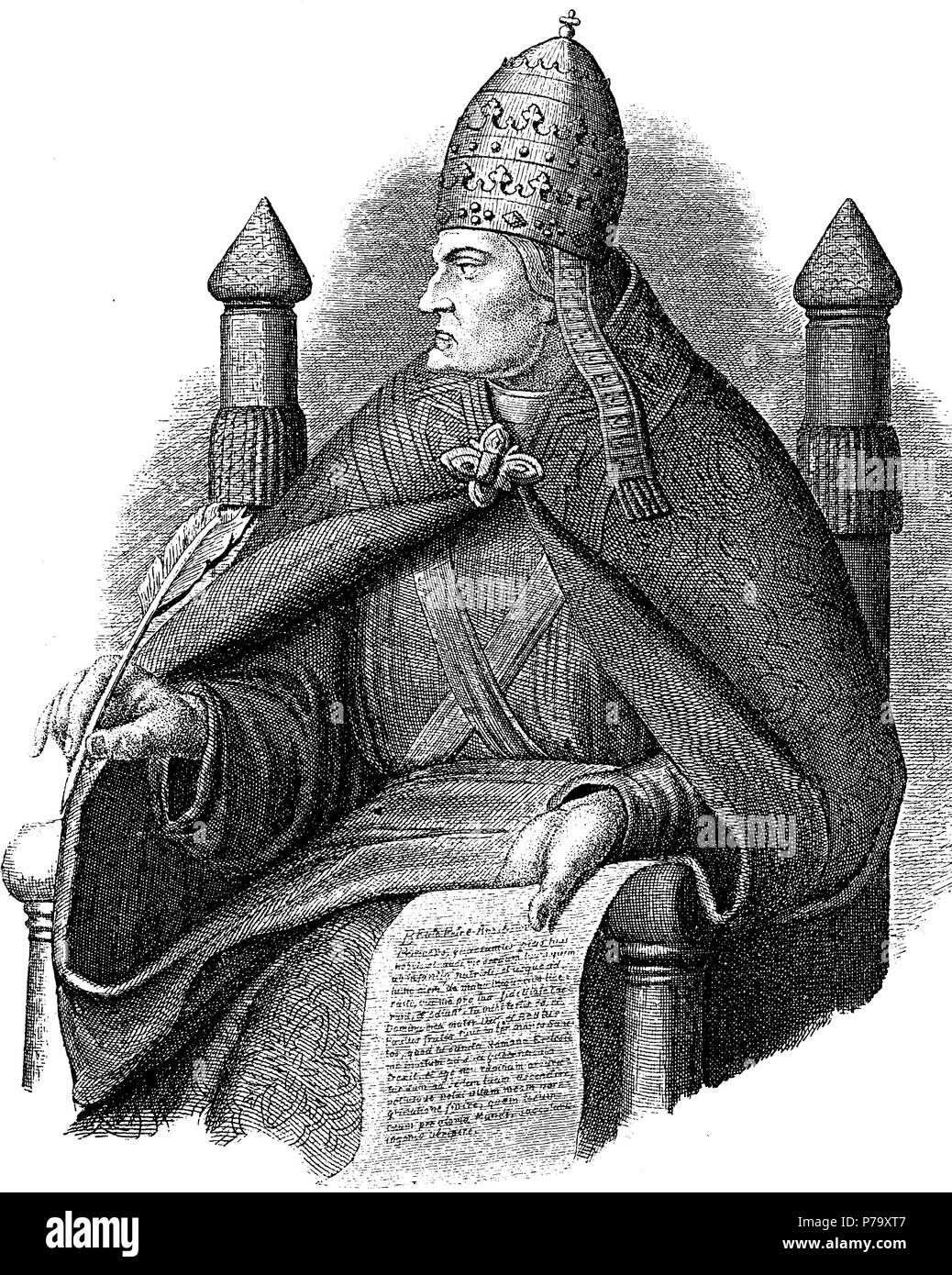 Pope Gregory VII, - Stock Image