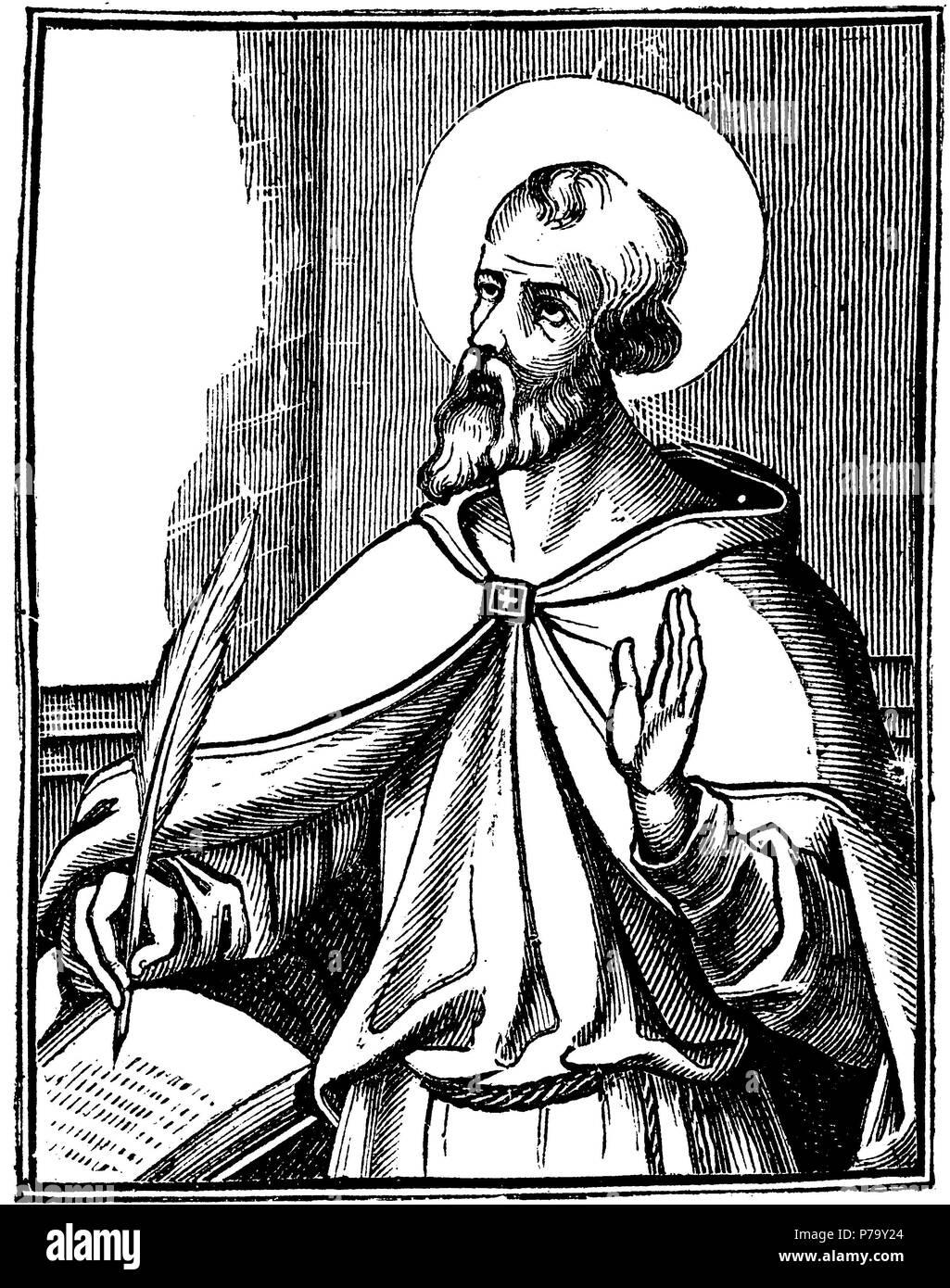 St. Hieronimus, confessor and church teacher, Stock Photo