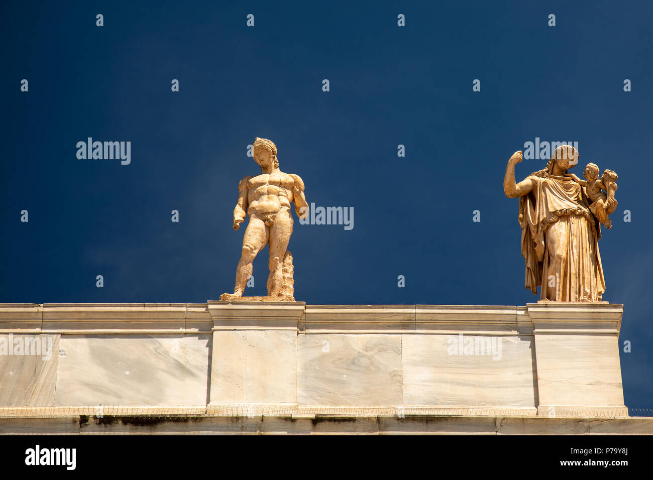 Greek God Ares God Of War Goddess Irene With Baby Plutus