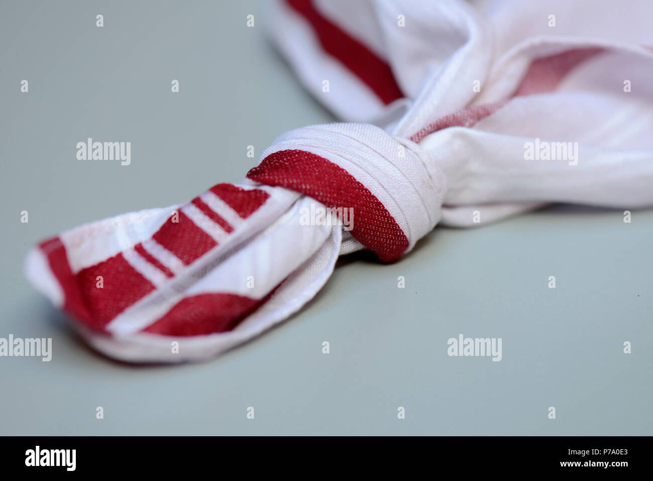 Knot in handkerchief Stock Photo