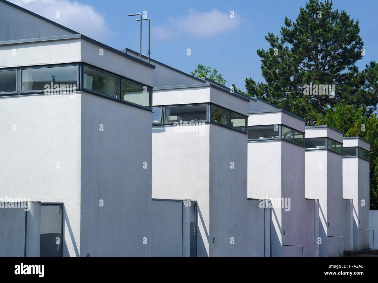 Stuttgart, Weissenhofsiedlung, 1927. Architekt: J. J. P. Oud - Stock Image
