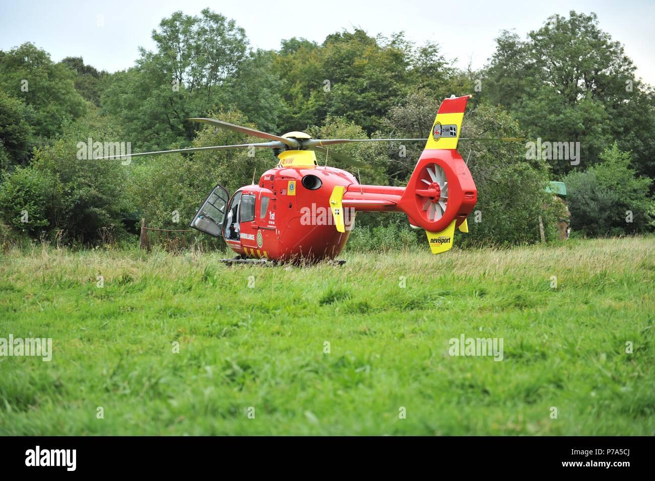 Devon Air Ambulance UK - Stock Image