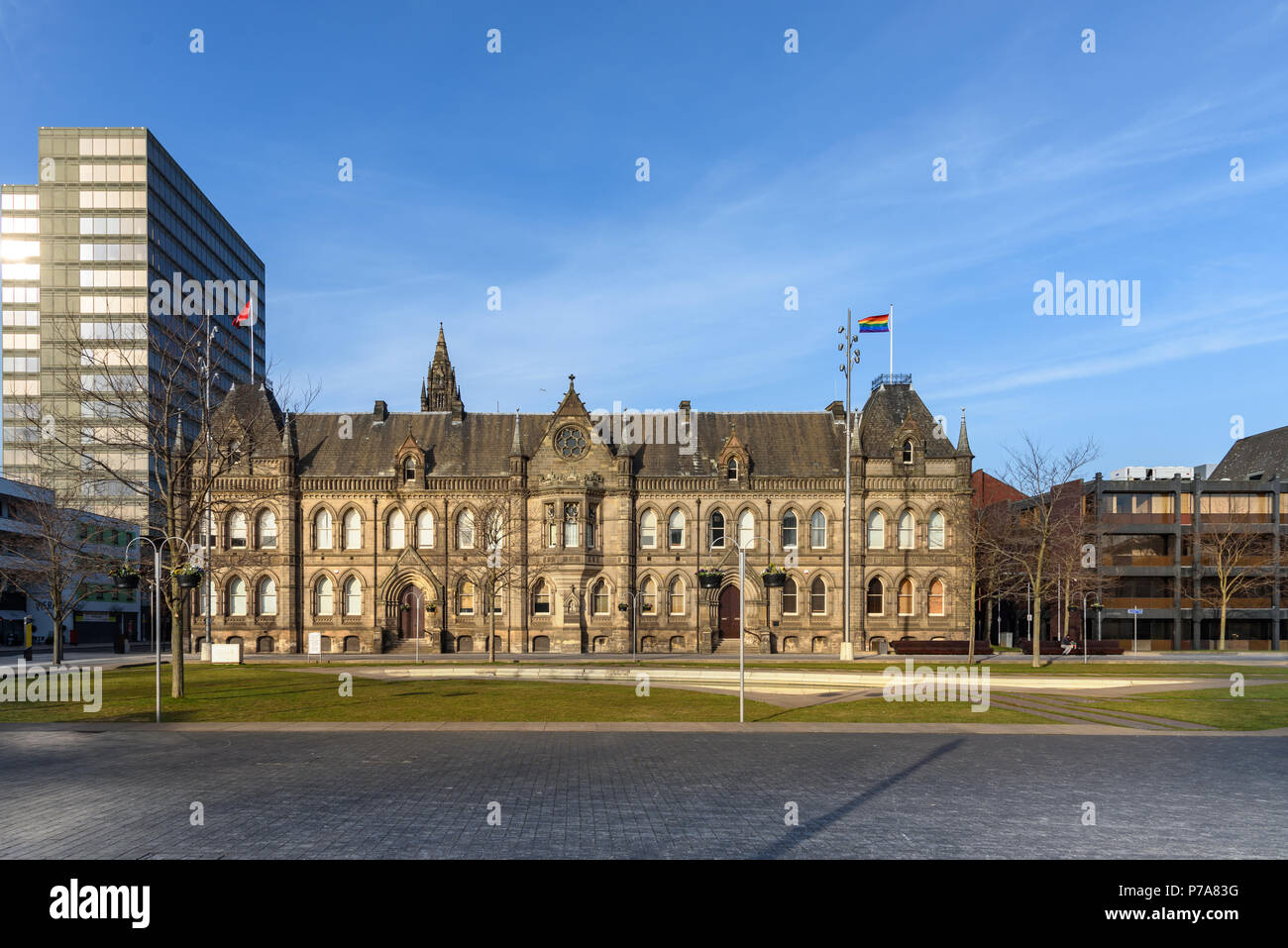 Town hall of Middlesbrough city , Teeside UK - Stock Image