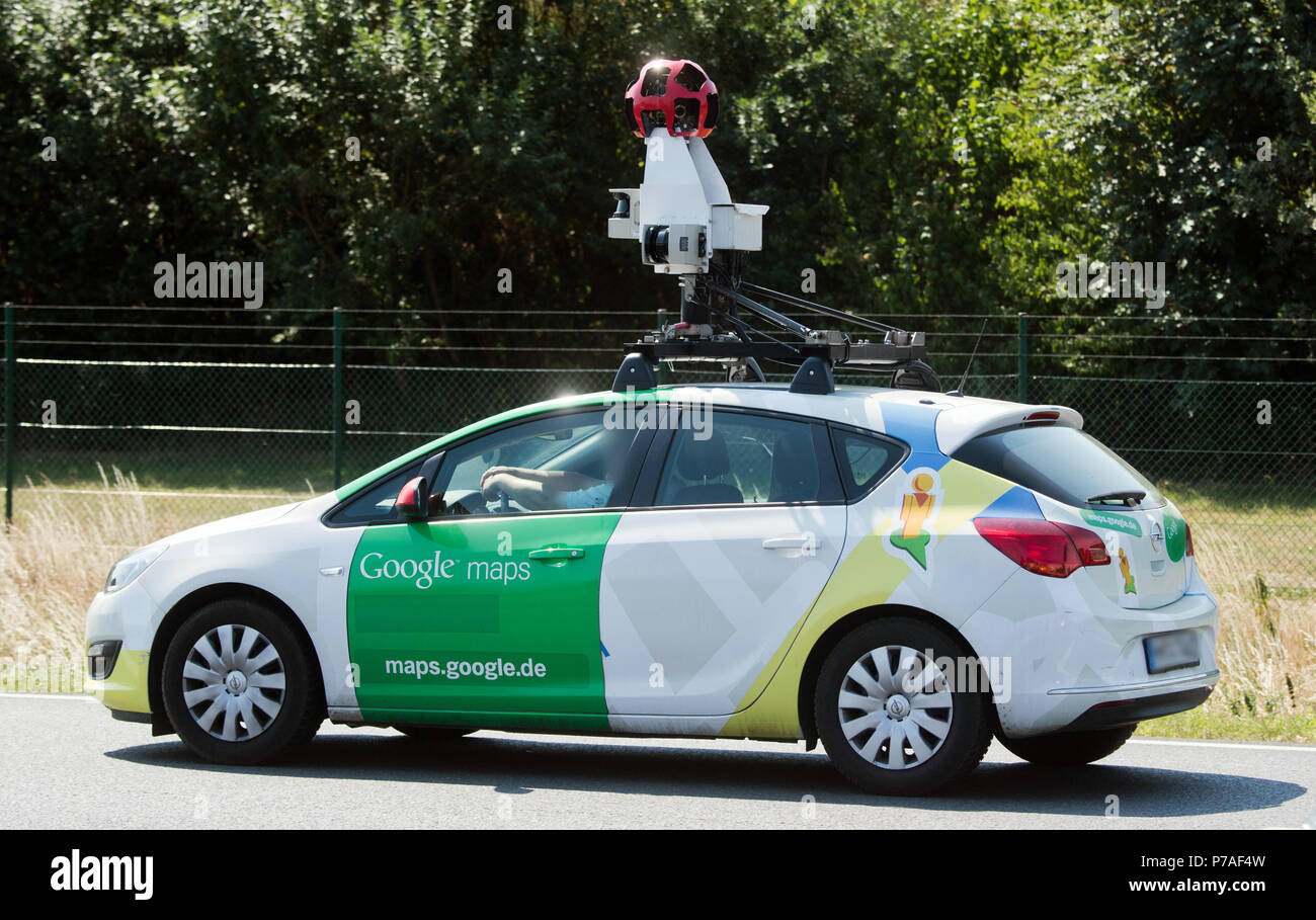 Germany, Hanover. 5th July, 2018. A vehicle of Google Maps ... on earth live satellite camera, google maps vehicle with camera, google earth live, google maps camera guy, web live camera, google street view camera, google maps camera funny, google maps live webcam, google earth views with camera, google maps caught on camera, google trekker, google 3d maps live, google earth street view search, google maps street view live, google 360 camera,