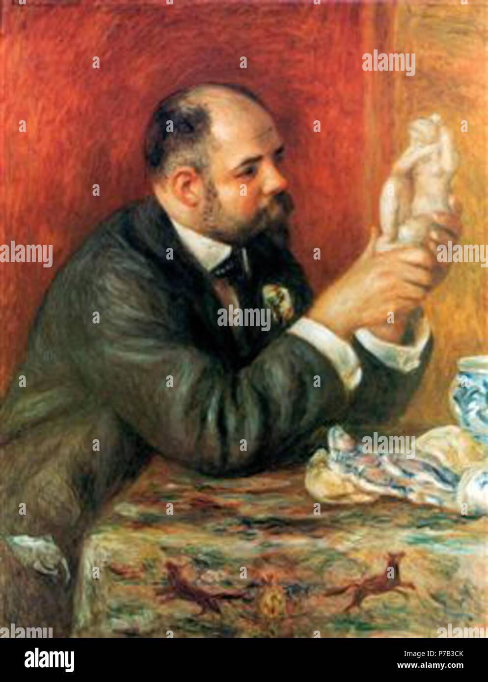 Work by Pierre-Auguste Renoir . before 1919 67 Renoir - ambroise-vollard-1908.jpg!PinterestLarge - Stock Image