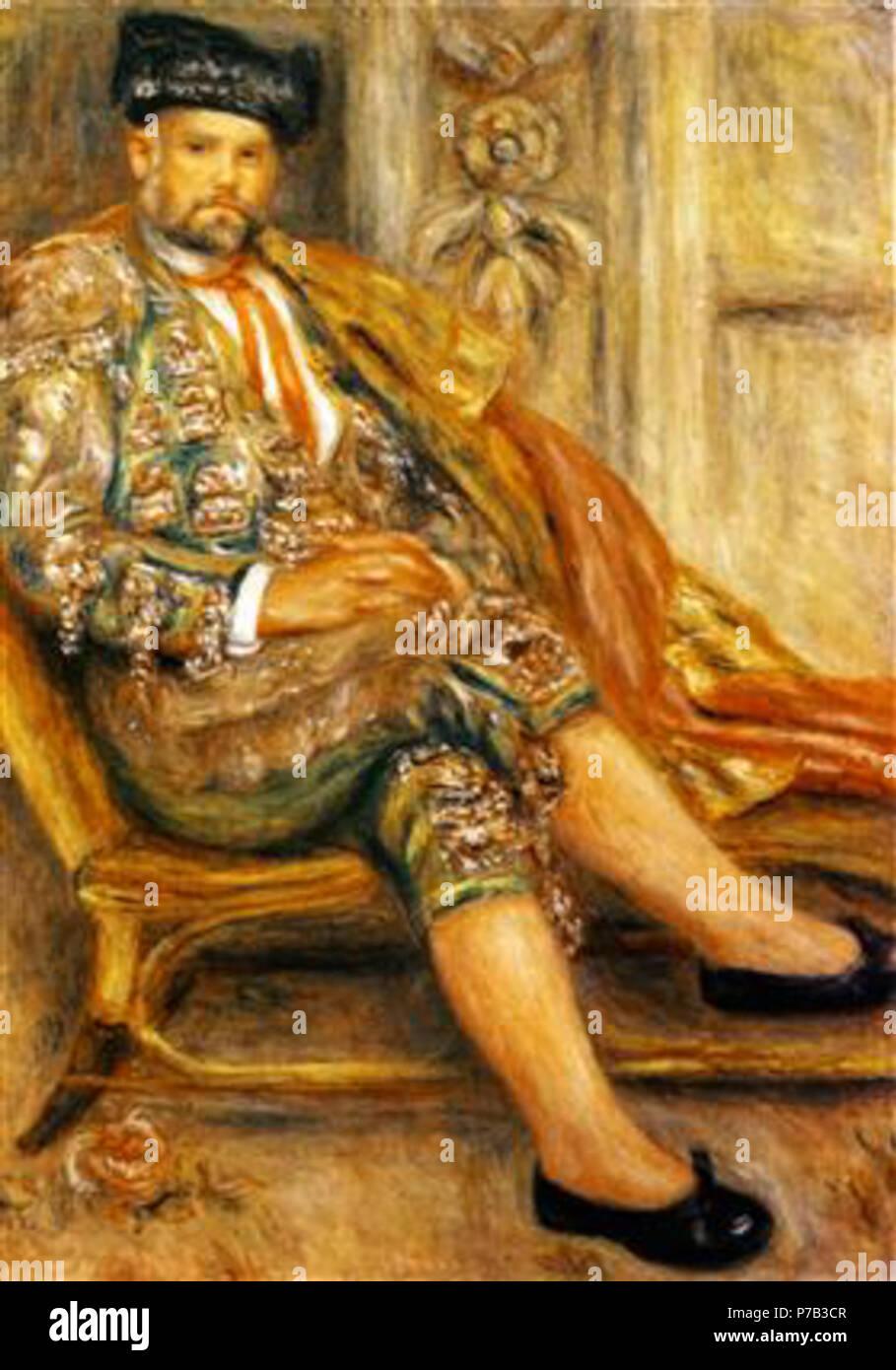 Work by Pierre-Auguste Renoir . before 1919 67 Renoir - ambroise-vollard-portrait.jpg!PinterestLarge - Stock Image