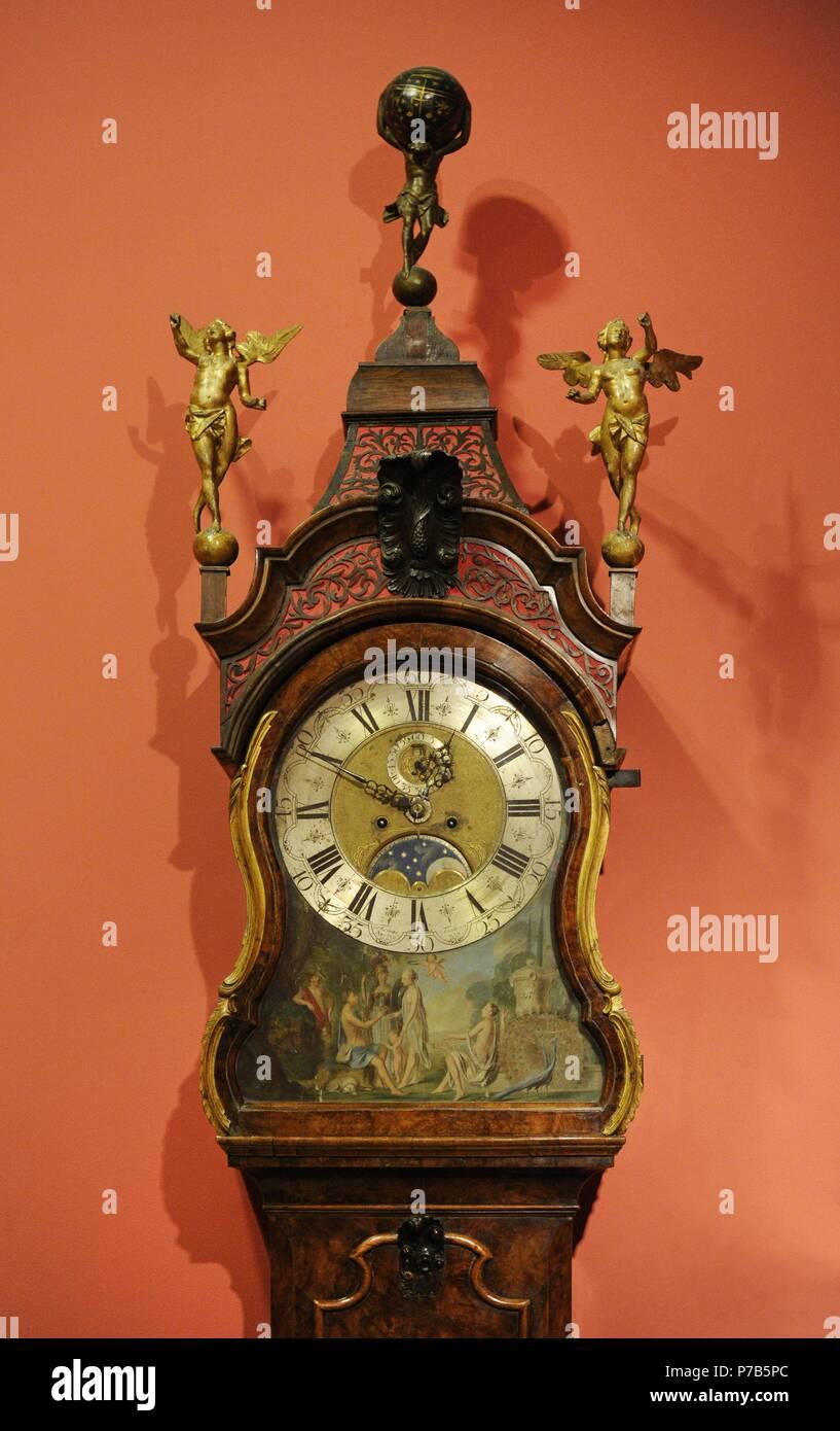 longcase clock case styles