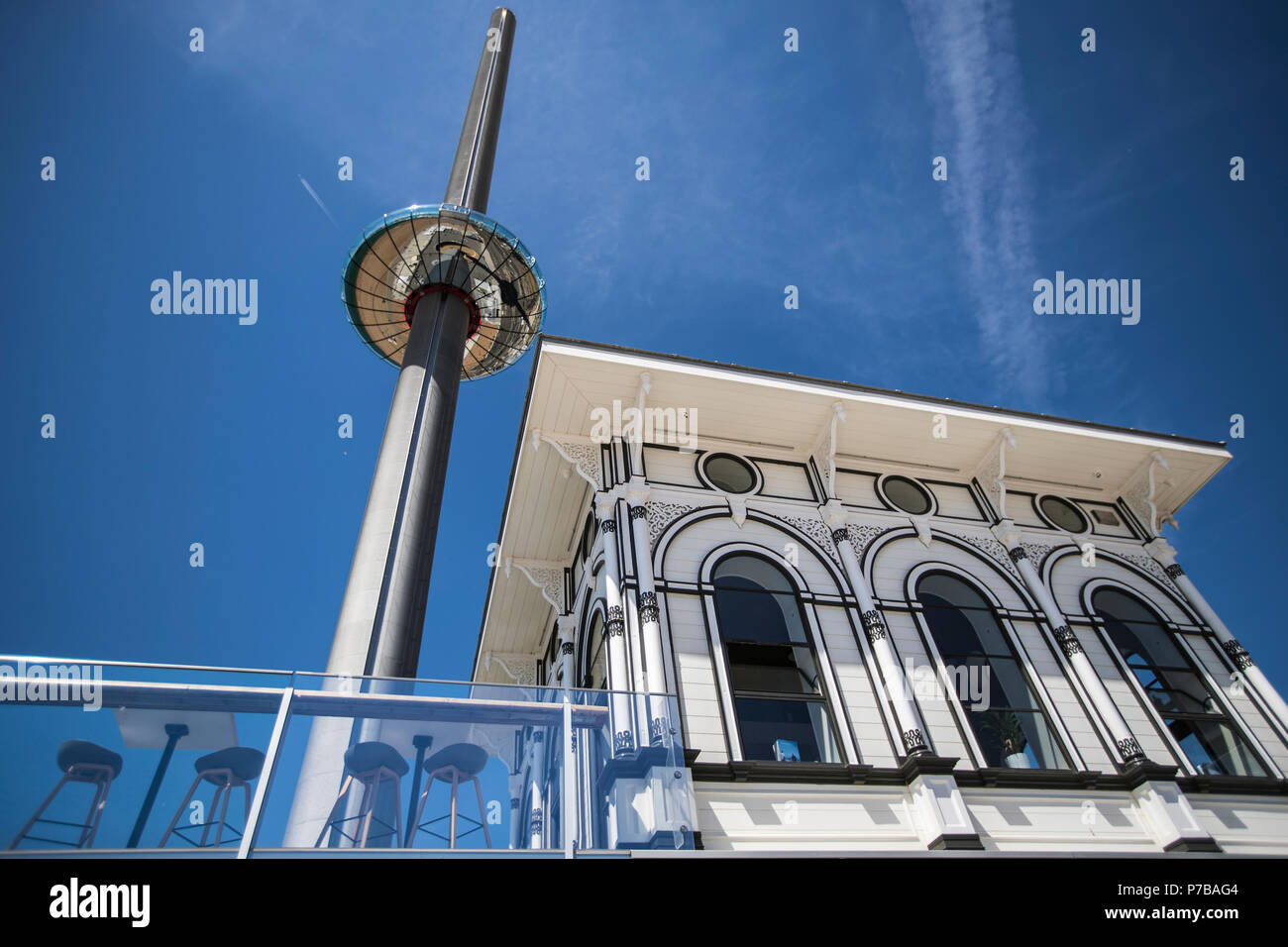 Brighton i360 lift - Stock Image