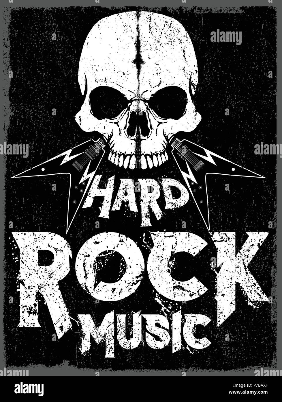 rock star poster vintage rock and roll typographic for t. Black Bedroom Furniture Sets. Home Design Ideas